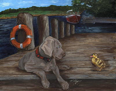 Painting - Come Here Often? by Kathleen Kelly Thompson