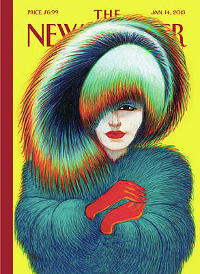 Coat Painting - New Yorker January 14th, 2013 by Lorenzo Mattotti