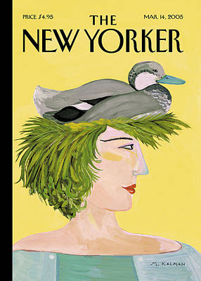 2005 Painting - New Yorker March 14th, 2005 by Maira Kalman