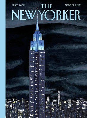 Empire State Building Painting - New Yorker November 19th, 2012 by Mark Ulriksen