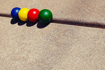 Fruits And Vegetables Still Life - Balls and Concrete by Mirian Hubbard