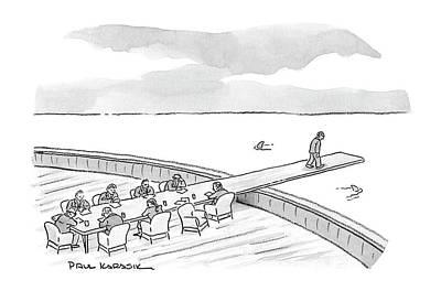 Pirate Ships Drawing - New Yorker January 21st, 2008 by Paul Karasik