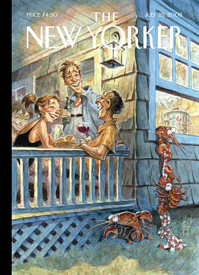 Dine Painting - New Yorker July 28th, 2008 by Peter de Seve