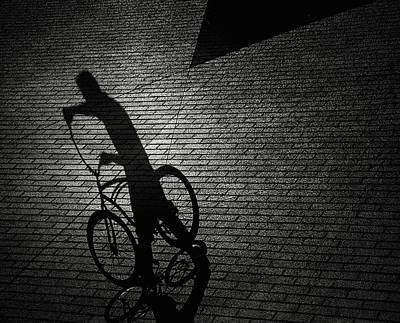 Bicyclist Photograph - Untitled by Roxana Labagnara
