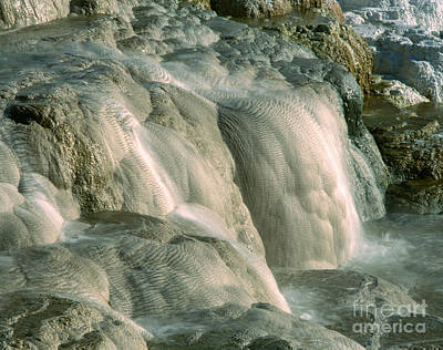 Upper Terrace At Mammoth Hot Springs Art Print