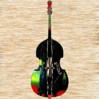 Music Mixed Media - Upright Bass by Marvin Blaine