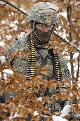 U.s. Army Soldier Conducts A Dismounted Art Print by Stocktrek Images
