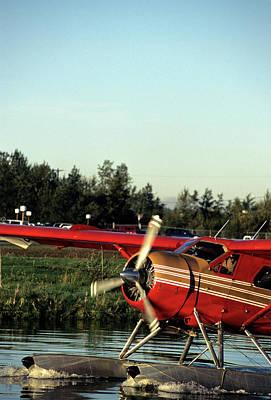 Usa, Alaska, Float Plane, Anchorage Art Print