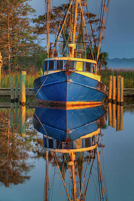 Usa, Florida, Apalachicola, Shrimp Boat Print by Joanne Wells
