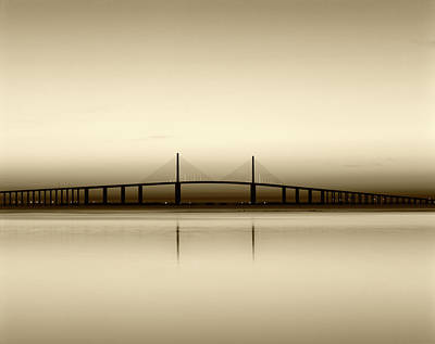 Usa, Florida, Sunshine Skyway Bridge Art Print by Adam Jones