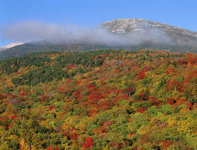 Mount Washington Photograph - Usa, New Hampshire, White Mountain by John Barger