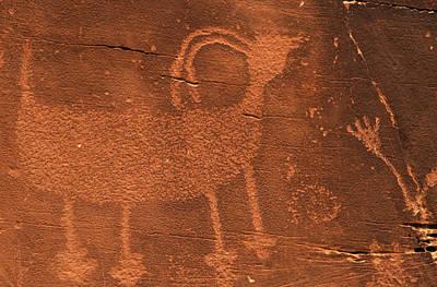 Usa, Utah Prehistoric Petroglyph Rock Art Print by Jaynes Gallery