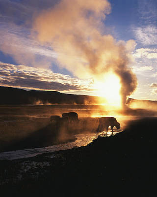 Usa, Wyoming, Yellowstone National Art Print