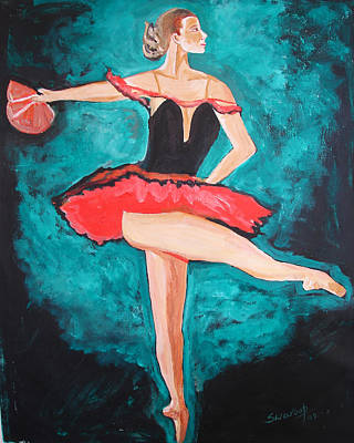 Painting - U.s.ballet Dance by Anand Swaroop Manchiraju