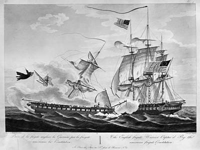 Uss Constitution Painting - Uss Constitution, 1812 by Granger