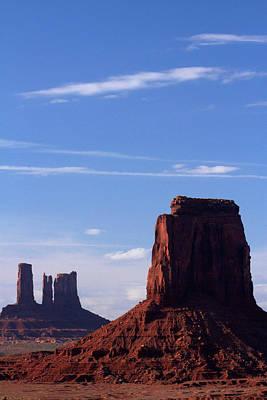 Of Artist Photograph - Utah Arizona Border, Navajo Nation by David Wall