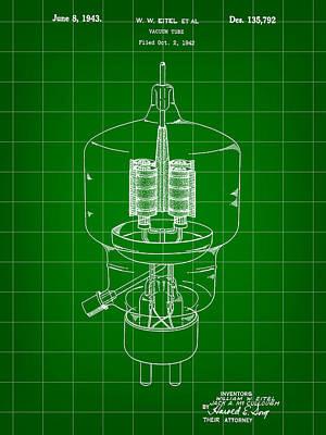 Vacuum Tube Patent 1942 - Green Art Print