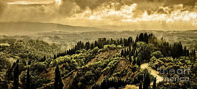 Italian Landscapes Photograph - Val D'orcia Tuscany Italy by Robert Leon