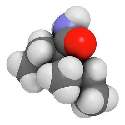 Valnoctamide Sedative Drug Molecule Art Print by Molekuul
