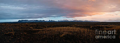 Mountains Photograph - Vatnajokull Mountain Range At Sunset Iceland by Matteo Colombo