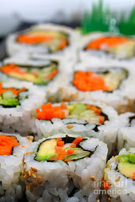Vegetable Sushi Print by Amy Cicconi