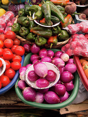 Photograph - Vegetables For Sale In Market by Panoramic Images