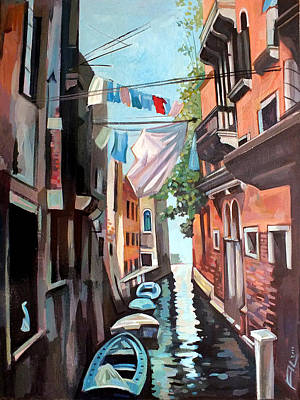 Venice Mixed Media - Venetian Channel 2 by Filip Mihail