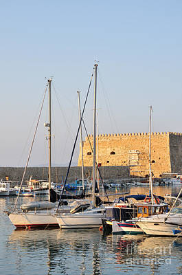 Sailing Photograph - Venetian Fortress In Iraklio City by George Atsametakis