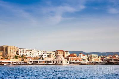 Chania Photograph - Venetian Harbour In Chania by Gabriela Insuratelu