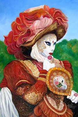 Venetian Rhapsody In Red Art Print by Leonardo Ruggieri