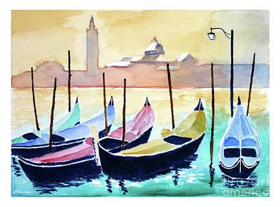 Venice Gondolas Art Print