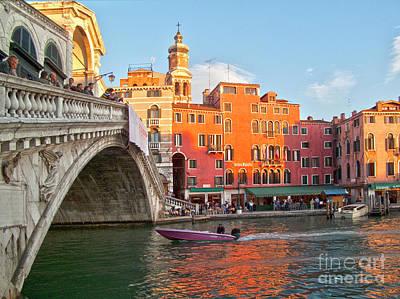 Venice Rialto Bridge Art Print by Heiko Koehrer-Wagner