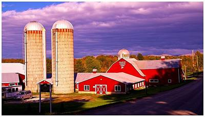 Vermont Dairy Farm. Art Print by Stan Amster