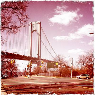 Brooklyn Bridge Photograph - Verrazano-narrows Bridge by Frank Winters