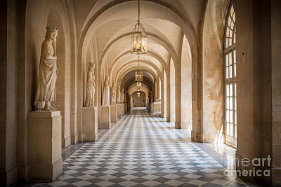Checkers Photograph - Versailles Hallway by Inge Johnsson