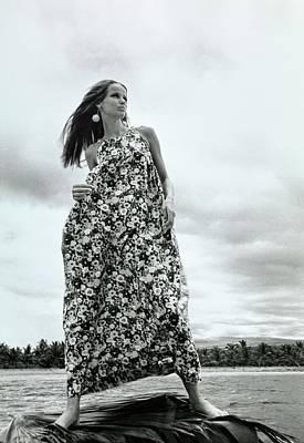 Photograph - Veruschka Wearing A Kahala Dress by Franco Rubartelli