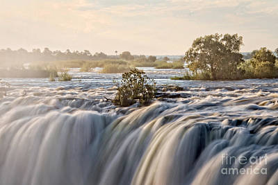 Zambia Waterfall Photograph - Victoria Falls by Delphimages Photo Creations