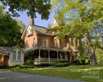 Photograph - Victorian Brick House by Tom Brickhouse