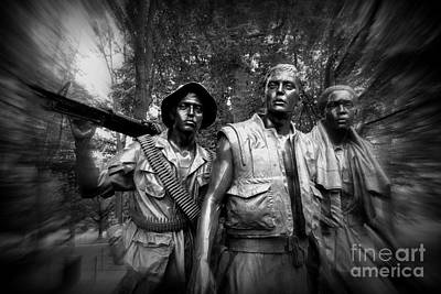 Photograph - Vietnam Veterans Memorial # 3 by Allen Beatty