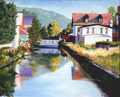 Painting - View Along The Canal by Robert Henne