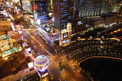 Cosmopolitan Photograph - View From Eiffel Tower In Las Vegas - 01131 by DC Photographer