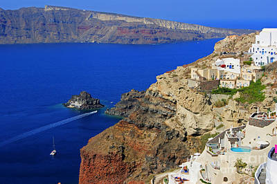 View From Oia Art Print