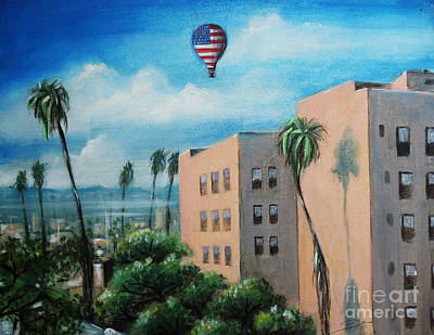 Painting - View From Olympic Boulevard by Sgn