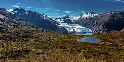 Portage Photograph - View Of Portage Glacier From Portage by Panoramic Images