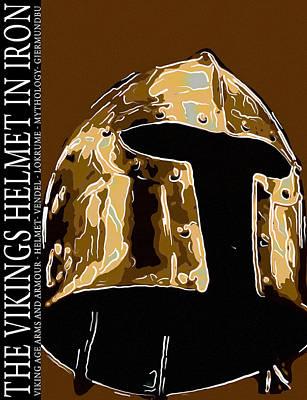 Viking Helmet In Iron Original
