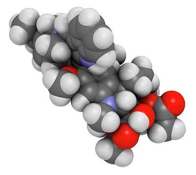 Chemotherapy Photograph - Vinorelbine Cancer Chemotherapy Drug by Molekuul