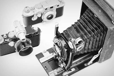 Aperture Photograph - Vintage Cameras by Chevy Fleet