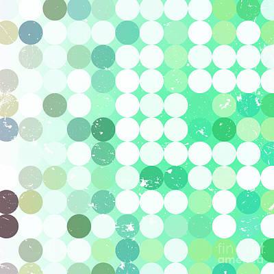 Futuristic Wall Art - Digital Art - Vintage  Circles Pattern.geometric by Veronika M