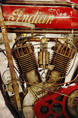 Photograph - Vintage Indian Motorcycle by Steve McKinzie