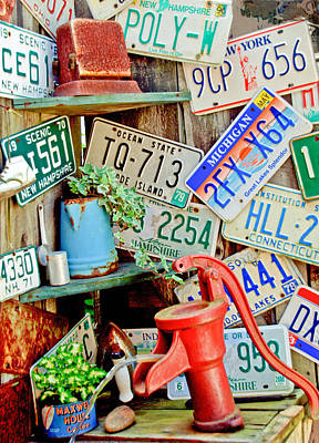 Photograph - Vintage License Plates by Caroline Stella